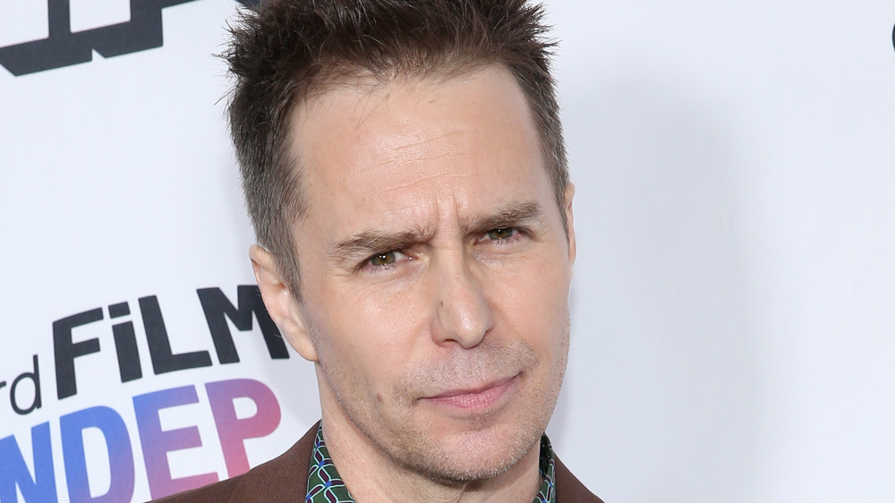 Sam Rockwell looking serious