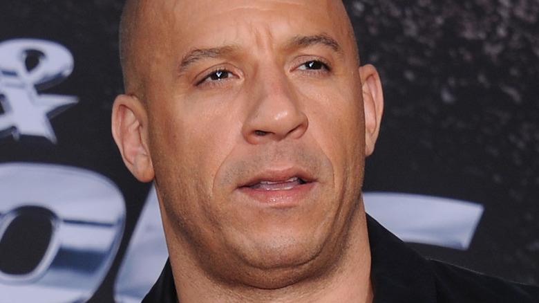 Vin Diesel squinting