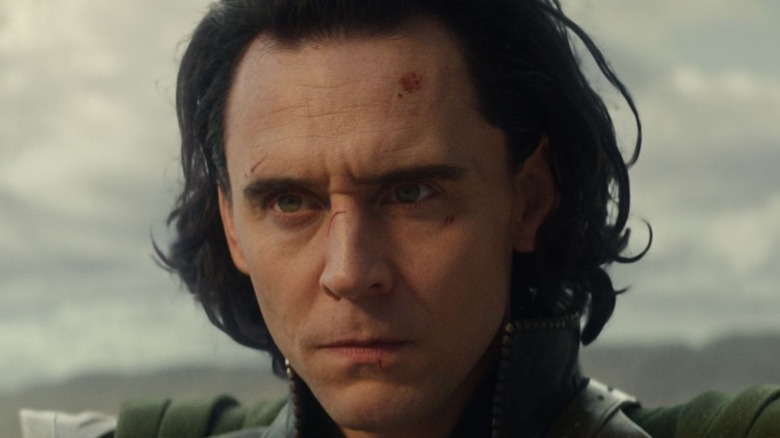 Loki with scrapes on his face