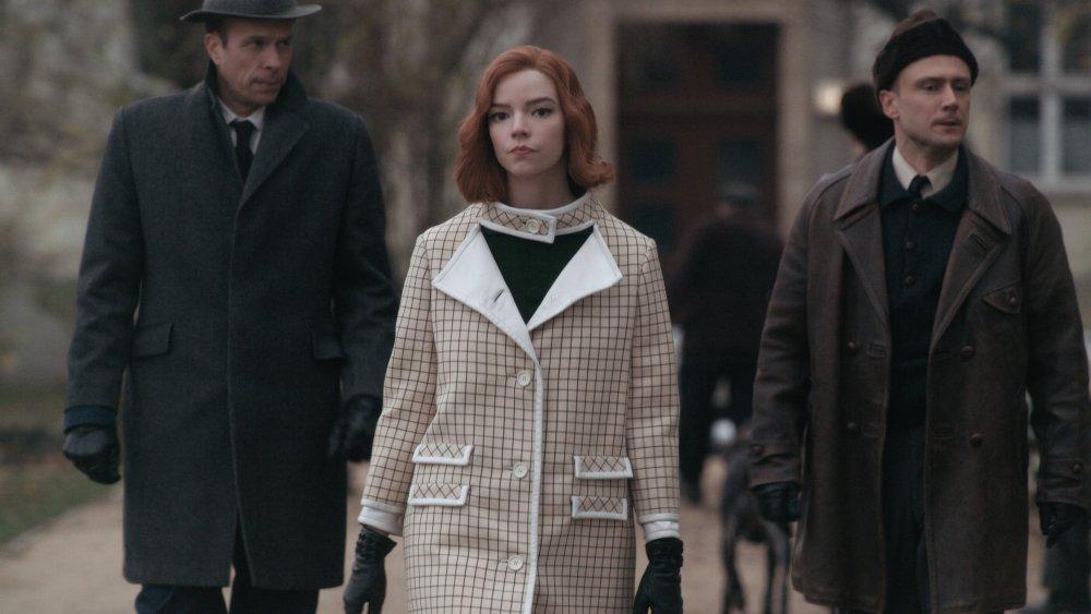Anya Taylor-Joy as Beth Harmon on The Queen's Gambit