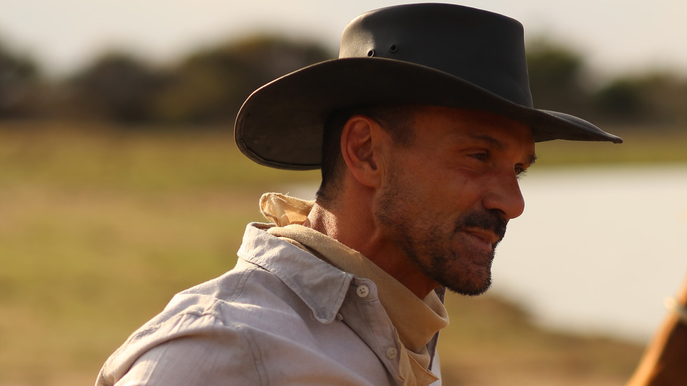 Frank Grillo in a cowboy hat