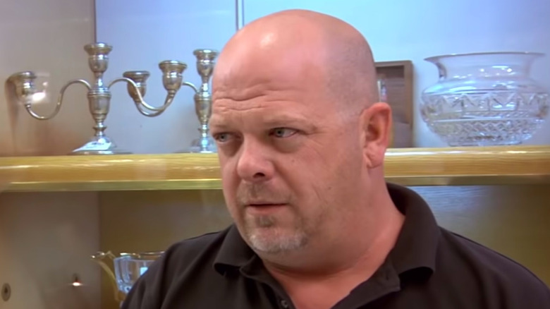 """Rick Harrison looking skeptical on """"Pawn Stars"""""""