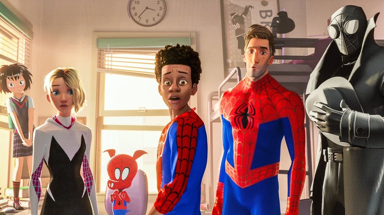 The spidery cast of Spider-Man: Into the Spider-Verse led by Miles Morales
