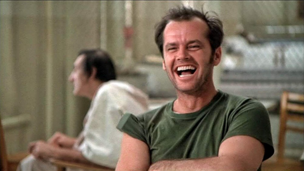 Jack Nicholson stars as R.P. McMurphy in One Flew Over the Cuckoo's Nest