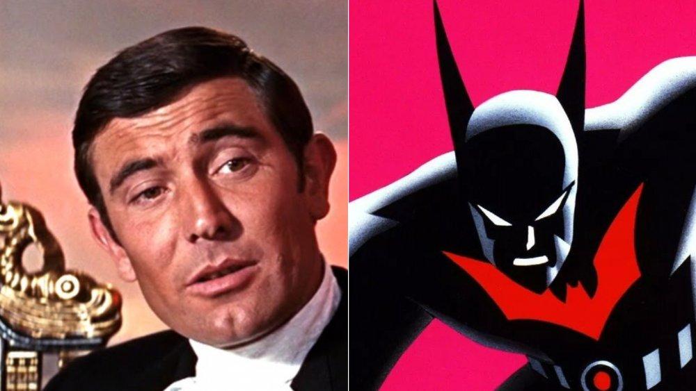 George Lazenby as James Bond and Batman from Batman Beyond