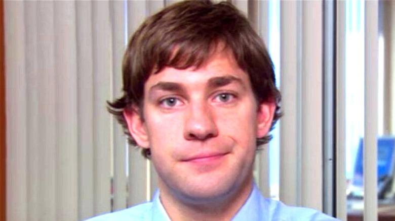 Jim smirking