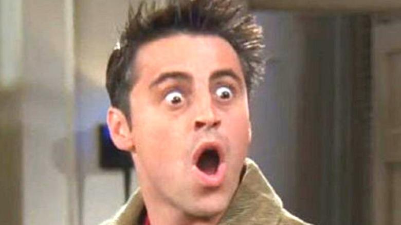 Joey looking shocked