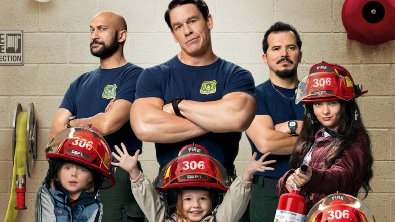 John Cena on the Playing with Fire poster