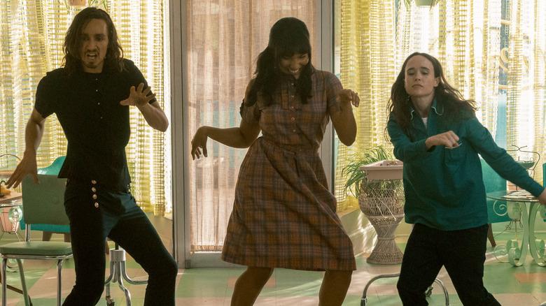 Klaus, Allison, and Vanya dancing on The Umbrella Academy season 2