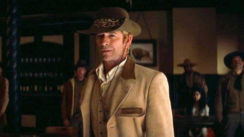 Luke Perry walks into a saloon in Once Upon a Time in Hollywood