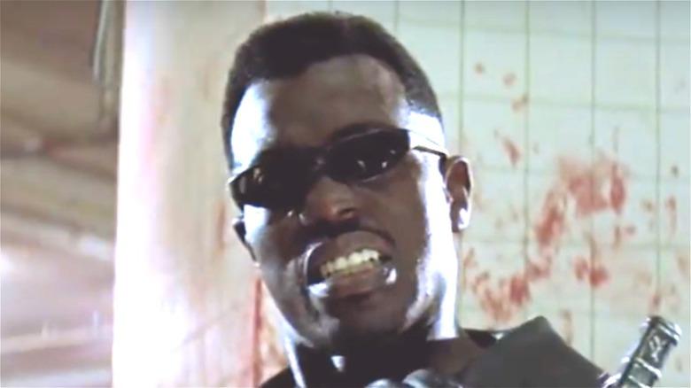 Blade wearing sunglasses