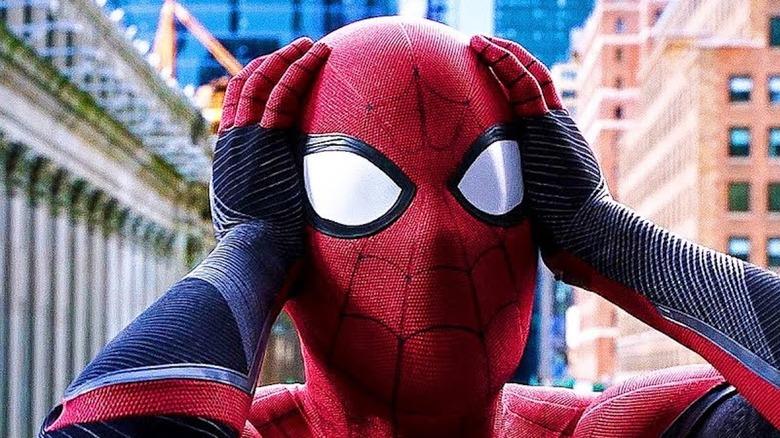 Spider-Man shocked