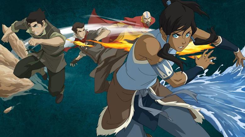 Korra leads Team Avatar from Legend of Korra