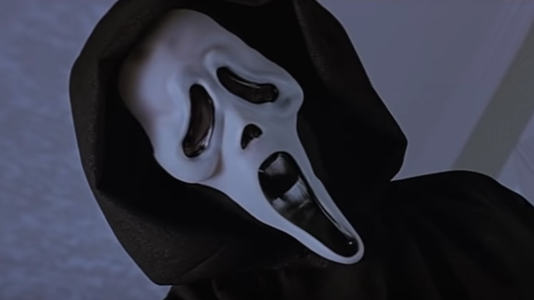 Ghostface hovering