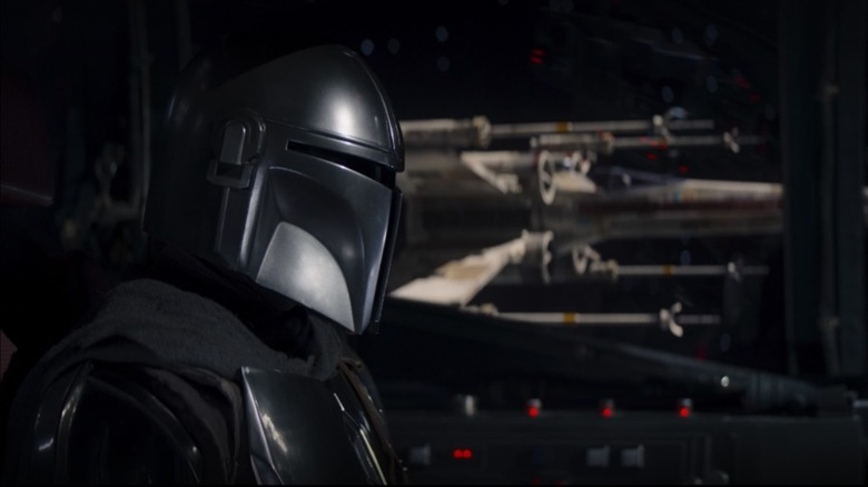 Mando and an X-Wing in The Mandalorian