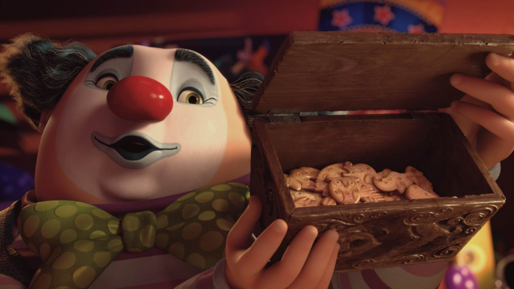 The clown presents the magical animal crackers in Animal Crackers