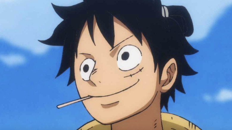One Piece Luffy smiling