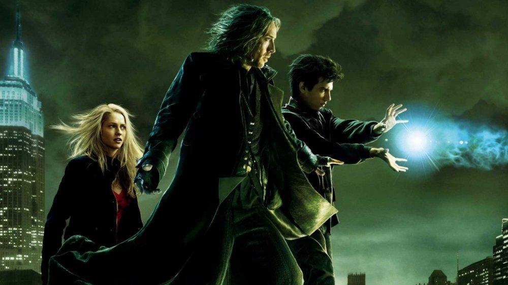 Nicolas Cage, Teresa Palmer, and Jay Baruchel in The Sorcerer's Apprentice poster