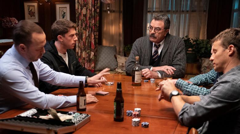 Blu Bloods cast playing poker