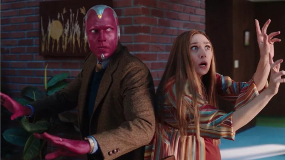 Vision and Wanda getting witchy