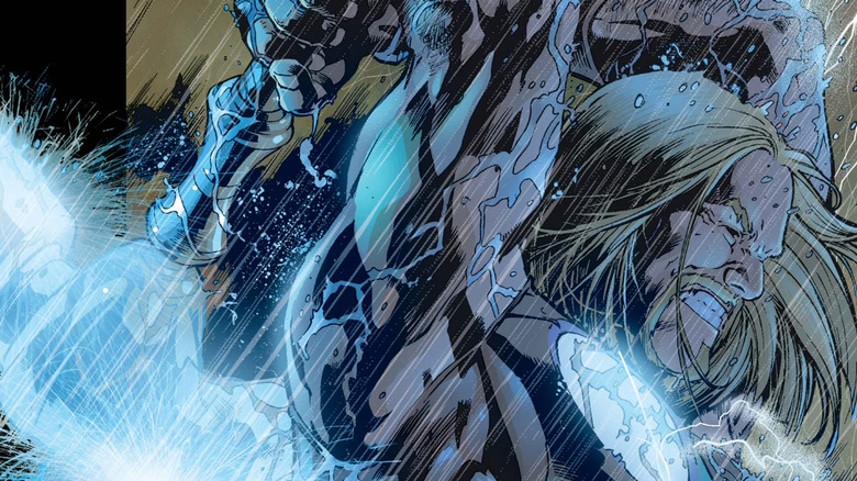Thor from the Ultimate Marvel universe on the cover of 2002's Ultimates #4
