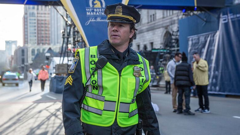 Mark Wahlberg as Tommy Saunders in Patriots Day