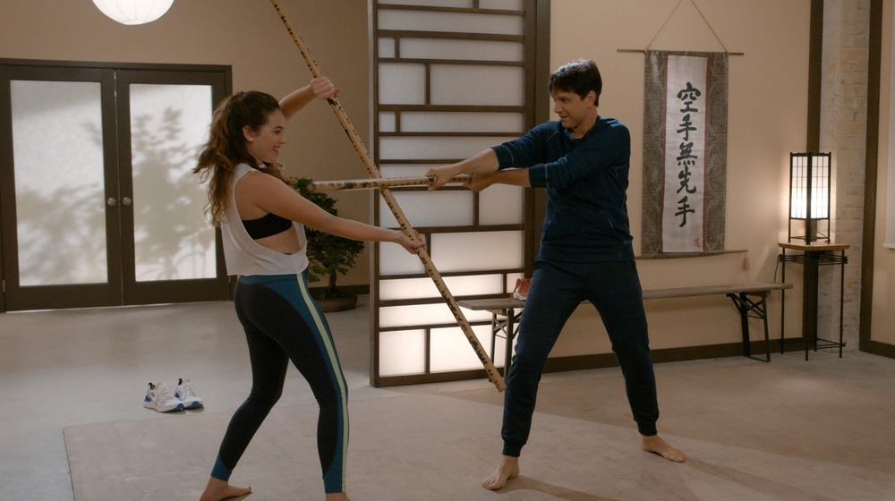 Daniel LaRusso training daughter Sam in Cobra Kai Season 3