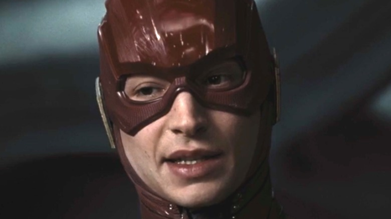 Ezra Miller Flash red suit