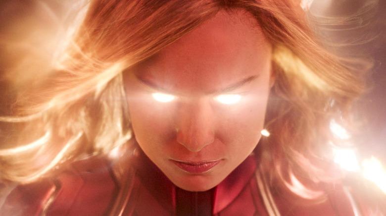 Carol Danvers using powers