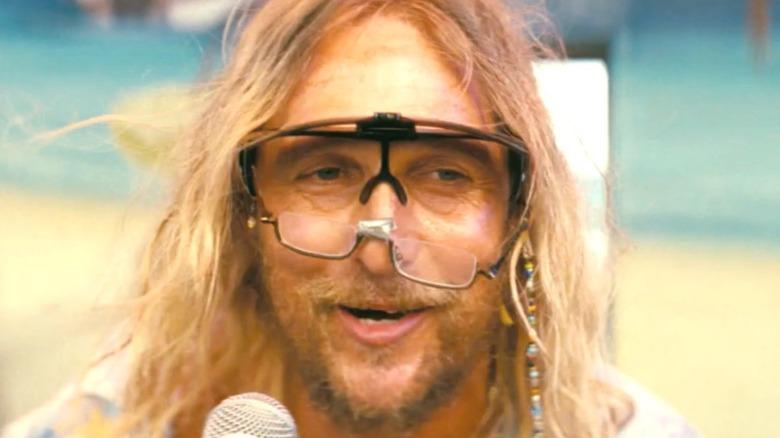Matthew McConaughey wearing goggles