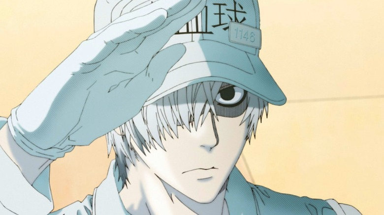 White Blood Cell saluting