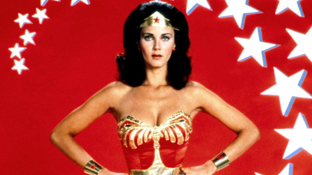 Lynda Carter in a promo image for the Wonder Woman TV show