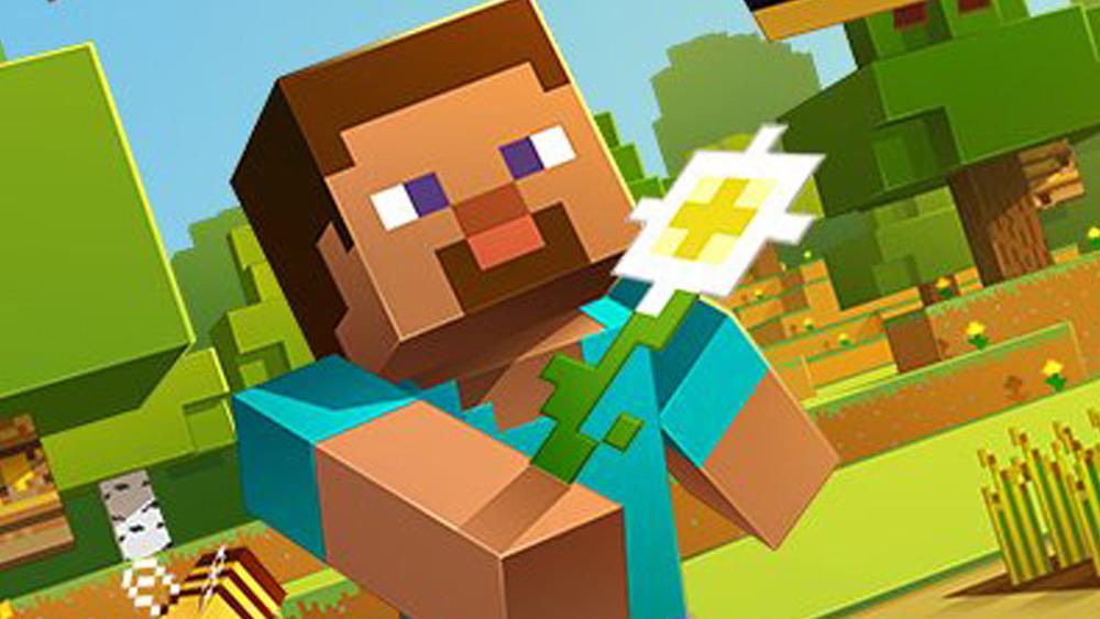 Minecraft Steve flower