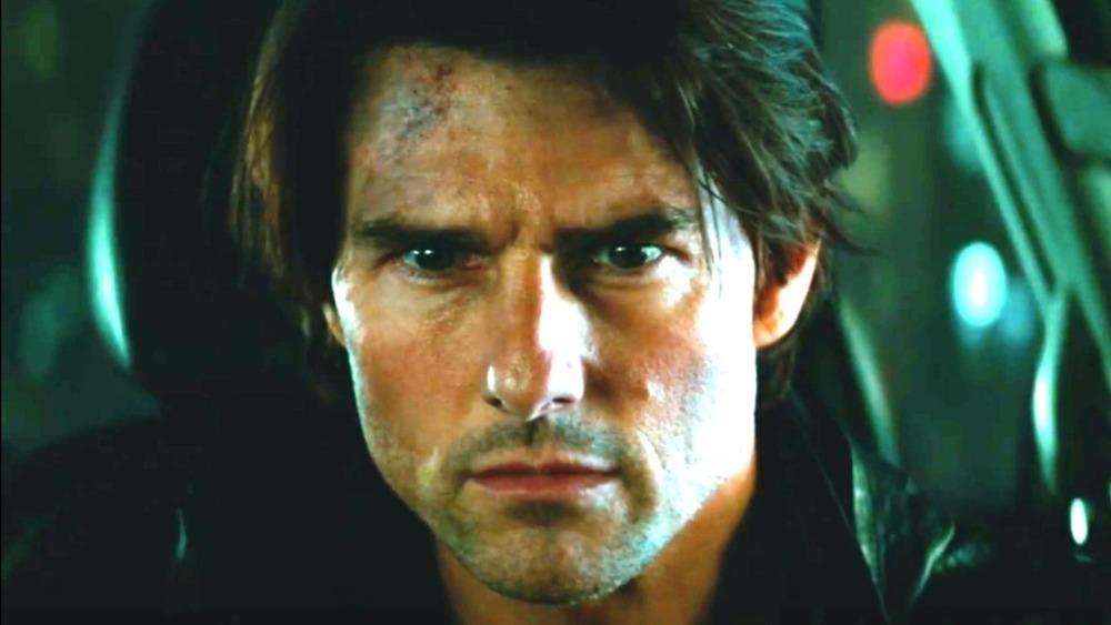 Tom Cruise looking worried