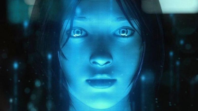 Cortana stares