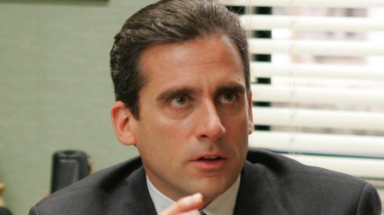 Michael Scott talking in The Office