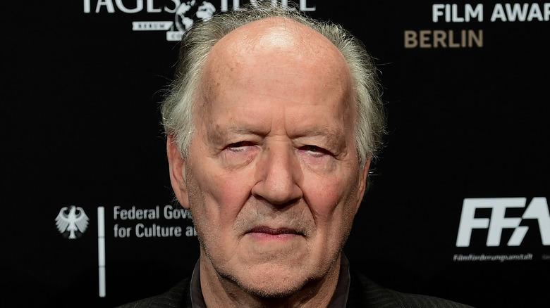 Werner Herzog scowling