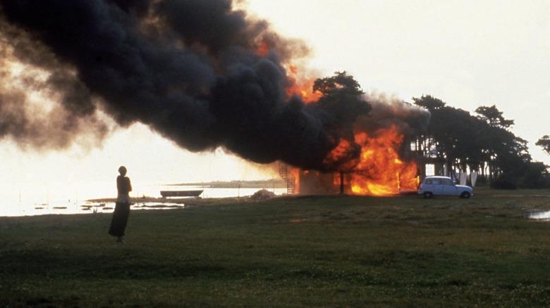 A house burns in The Sacrifice