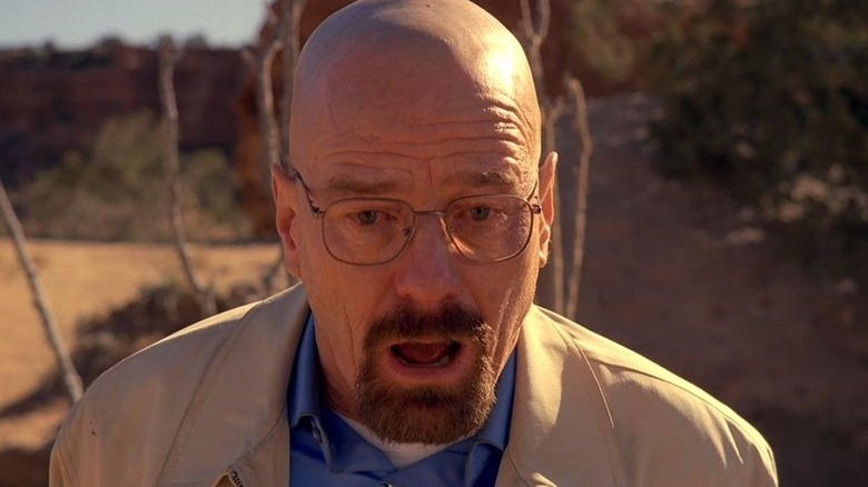 Walter White mouth open Breaking Bad