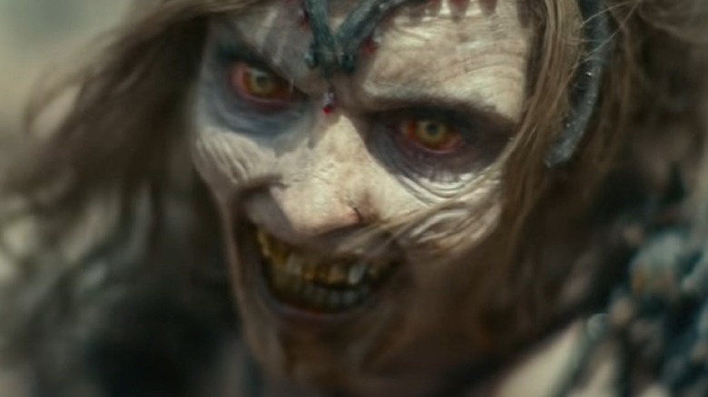 Zombie queen grinning