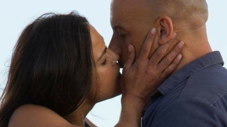 Dom and Letty kiss