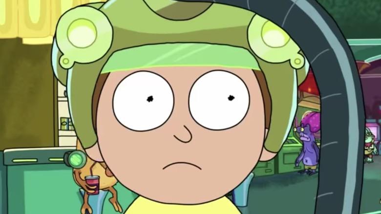 Morty in gaming helmet