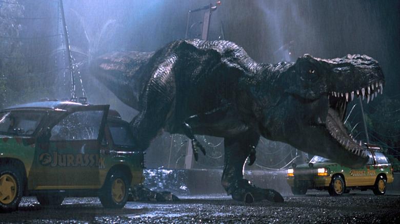 jurassic park t-rex escape