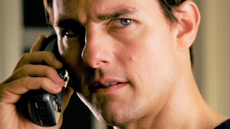 Ethan Hunt talks on phone