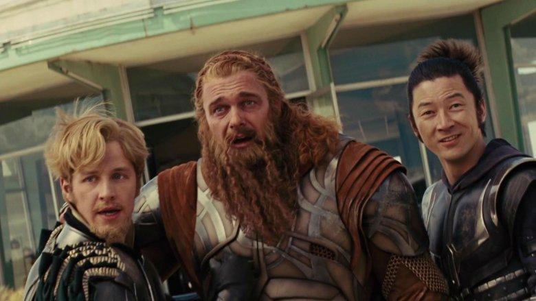 Josh Dallas, Ray Stevenson, and Tadanobu Asano in Thor