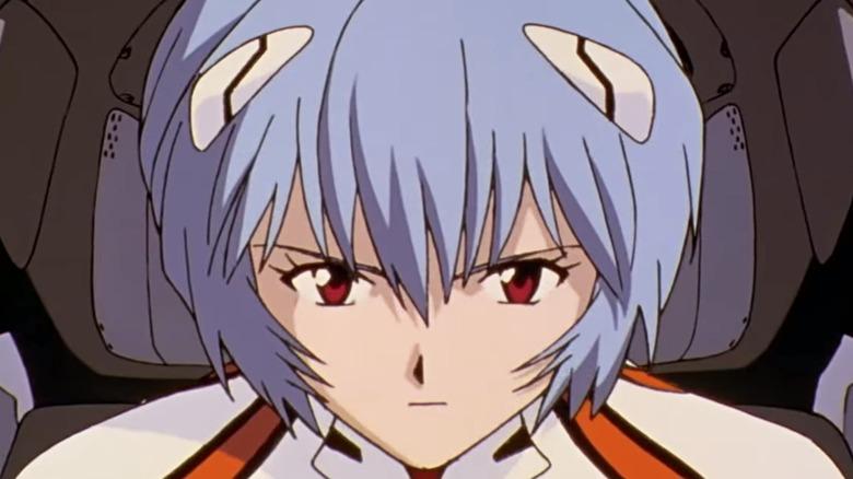 Rei Ayanami piloting Eva