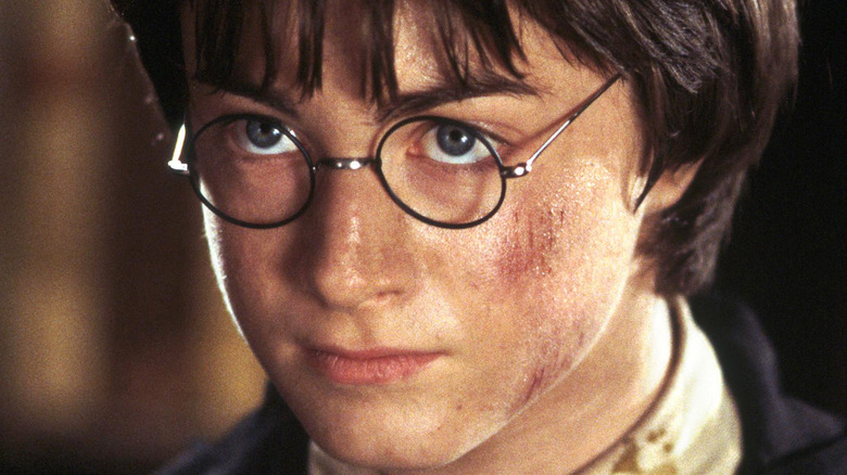 Harry Potter scratched face
