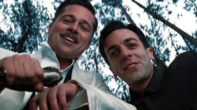 Brad Pitt and B.J. Novak in Inglourious Basterds