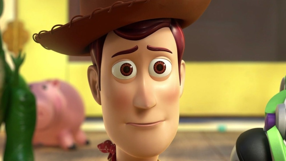 Woody watching Andy leave