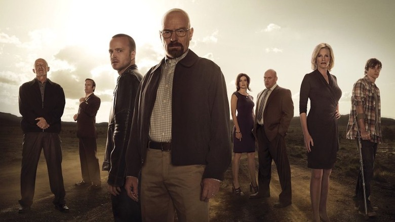 The cast of AMC's Breaking Bad